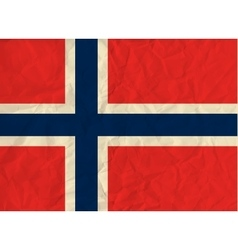 Norway paper flag vector
