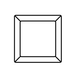 Plate rectangle empty vector