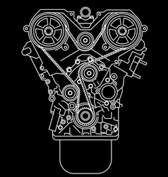 racing engine front view vector image vector image
