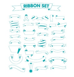 Ribbon set on a white vector image