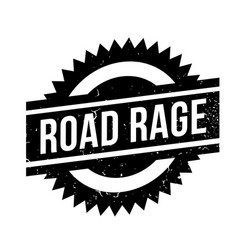 Road rage rubber stamp vector