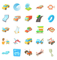 Service icons set cartoon style vector