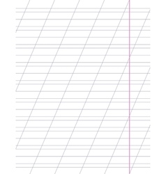 Sheet with slanted lines vector