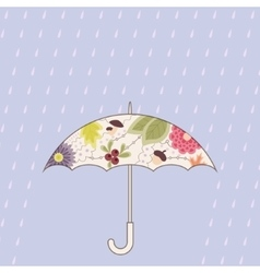 Umbrella and rain vintage vector image vector image