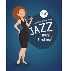 Woman Jazz Singer vector image