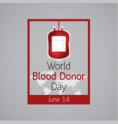 world blood donor day icon vector image vector image