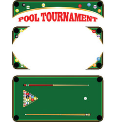 Pool tournament vector