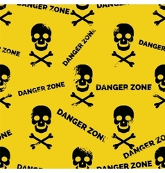 Danger zone seamless pattern vector