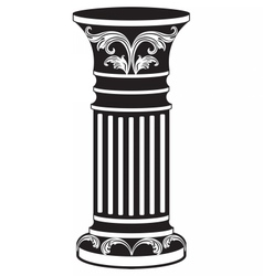 Architectural decorative column vector
