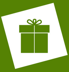 Gift sign white icon obtained as a result vector