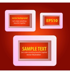 Display text box design with rounded corners vector