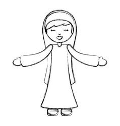 Holy mary virgin character vector