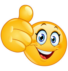 Thumbs up emoticon text