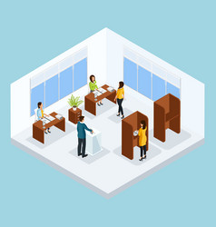 Isometric voting process concept vector