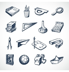 School sketch icons vector