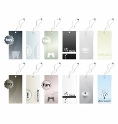 shopping tags vector image