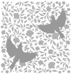 Flourishes with birds vector