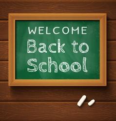 chalkboard green school vector image