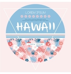 Hawaii country club print vector