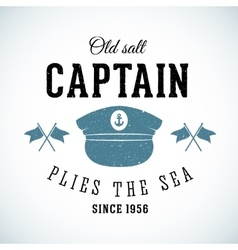 Old salt captain vintage marine logo vector