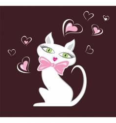 Cat in love vector