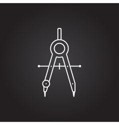 Compasses icon vector