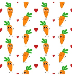 Carrots seamless pattern vector