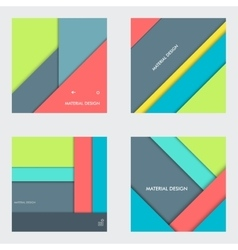Modern material design background vector