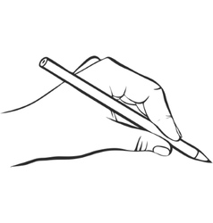Writing hand with pencil vector