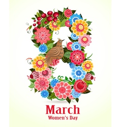 8 march Women Day vector image