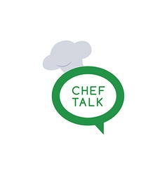 Chef talk logotype vector