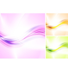 Bright abstract waves vector