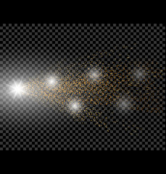 A golden wave of brilliant dots on a checkered vector