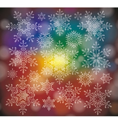 a Winter Background with Snowflakes vector image vector image