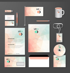 Abstract empty corporate identity template vector image