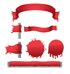 Blood red splash banner border vector