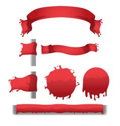 blood red splash banner border vector image vector image