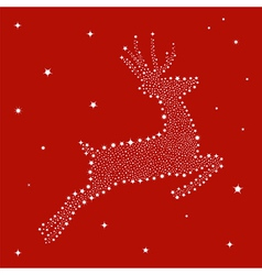 Christmas stars in reindeer shape vector image