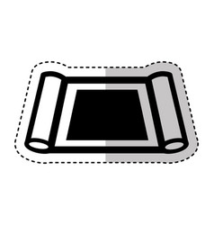 construction plane isolated icon vector image vector image