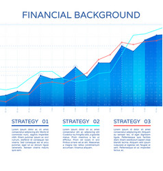 Growth chart economy concept statistics business vector