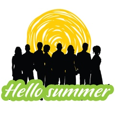 Hallo summer with people vector
