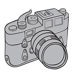 Hand drawn camera vector