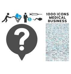 Help Balloon Icon with 1000 Medical Business vector image