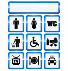 icons set of service signs vector image vector image