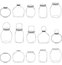 Jars set silhouettes jars vector