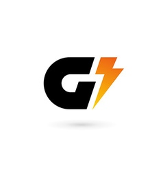 Letter G lightning logo icon design template vector image