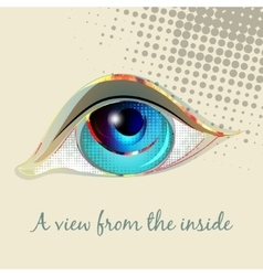 Look the human eye vector image