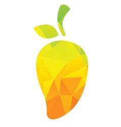 Mango-abstrack logo fruits mango vector