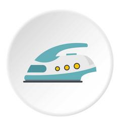 Modern electric iron icon circle vector