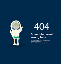 page not found error 404 template vector image